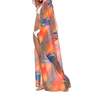 🎊🎉HP🎉🎊Bohemian Colorful Split Sleeve Cover Up